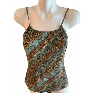 Axcess Teal/Brown Cami/Brown Teal/Size Small
